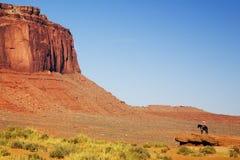 Navajo Indiër bij de Vallei van het Monument Royalty-vrije Stock Foto