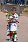 Navajo Indian child. SANTA FE NEW MEXICO USA APRIL 21: Unidentified navajo Indian child on april 21 2014 in Santa Fe New Mexico USA. The largest U.S. Indian Royalty Free Stock Images
