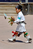 Navajo Indian child. SANTA FE NEW MEXICO USA APRIL 21: Unidentified navajo Indian child on april 21 2014 in Santa Fe New Mexico USA. The largest U.S. Indian Stock Photos