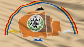 Navajo Indian Flag Closeup View. Navajo Indian Flag, Closeup View, 3D Rendering royalty free stock photos