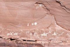 Navajo Indian paintings. In Arizona stock photos