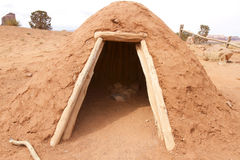 Navajo Kiva. Mud structure of a Navajo Kiva home structure Royalty Free Stock Images