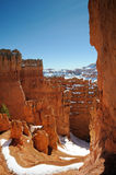 Navajo Loop hiking trail and hoodoos Royalty Free Stock Images