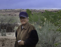 Navajo man warden on his environment Royalty Free Stock Photography