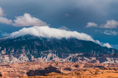 Navajo Mountain. As seen from hole in the rock lake powell Stock Image