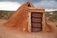 Navajo native indian house Royalty Free Stock Photo
