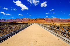 Navajo pedestrian bridge. Scenic Navajo pedestrian bridge over the Colorado River in Arizona Stock Photos