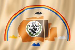 Free Navajo People Ethnic Flag, USA Stock Images - 182450244