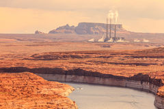 Navajo Power Generating Station lake Powell Stock Photography