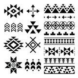 Navajo print, Aztec pattern, Tribal design elements Stock Photos