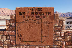 Navajo Reservation Sign Stock Photography