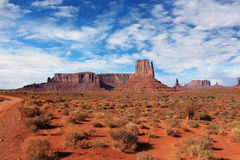 Navajo Reservation in the U.S. Red Desert Royalty Free Stock Photography
