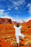 Navajo Reservation in the US Stock Image