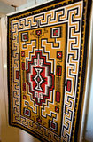 Navajo rug. A view of a beautiful, Navajo Indian rug hanging on a wall royalty free stock photography
