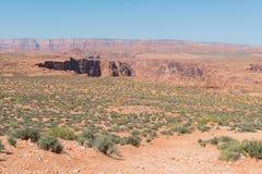 Navajo sandstone desert stock image
