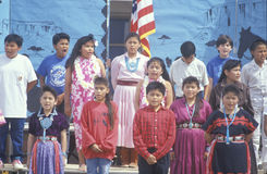 Navajo schoolchildren Royalty Free Stock Images