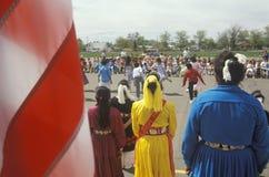 Navajo schoolchildren performing traditional dance Stock Images