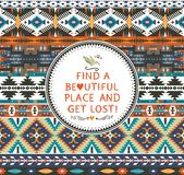 Navajo seamless colorful  tribal pattern Stock Image