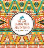Navajo seamless tribal colorful pattern Royalty Free Stock Images