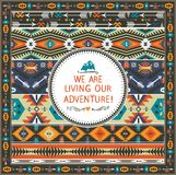Navajo seamless tribal colorful pattern Stock Image