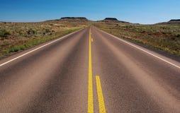 Navajo Service Route 6 near Holbrook, AZ. Arizona state route 77 becomes Navajo Service Route 6 between Holbrook and Indian Wells in Navajo County, Arizona stock image