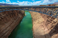 Navajo Steel Arch Highway Bridge Stock Photography