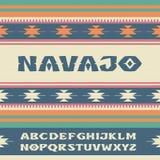 navajo Stilsort i stilen av prydnader av indiska stammar Arkivfoton