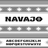 navajo Stilsort i stilen av prydnader av indiska stammar Arkivfoto