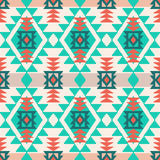 Navajo style geometric pattern. Navajo style ethnic tribal geometric seamless vector pattern Stock Images
