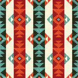 Navajo style pattern. Navajo style striped seamless pattern abstract background Stock Photos