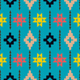 Navajo tribal ornament. Vector seamless ethnic pattern with american indian motifs in multiple colors. Colorful aztec background. Textile print with navajo Stock Photo