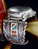 Navajo Watch Cuff. Stock Photos