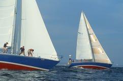 Naval Academy Midshipmen sailing Stock Image
