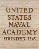 Naval Academy sign Stock Images