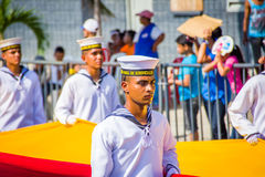 Naval academy students participate in Colombia's most important Royalty Free Stock Photography