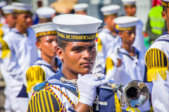 Naval academy students participate in Colombia's most important Stock Photography