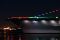 Naval aircraft carrier Stock Image