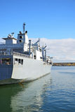Naval auxiliary ship. Royalty Free Stock Photography