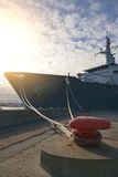 Naval auxiliary ship. Royalty Free Stock Image