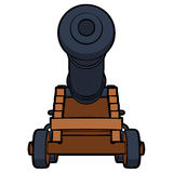 Naval cannon view bottom Stock Photo