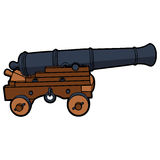 Naval cannon view side Stock Images