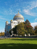 Naval Cathedral. In the city of Kronstadt Stock Photography