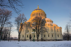 Naval cathedral in Kronshtadt Royalty Free Stock Photo