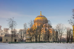 Naval cathedral in Kronshtadt Royalty Free Stock Photos