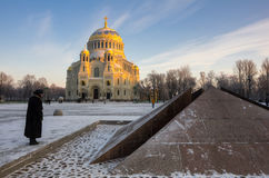 Naval cathedral in Kronshtadt Royalty Free Stock Photography