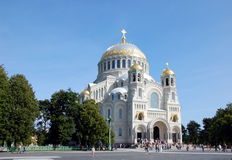 Naval Cathedral in Kronshtadt. Russia Stock Image