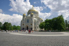 Naval cathedral in Kronshtadt Stock Photography