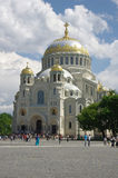 Naval cathedral in Kronshtadt Stock Images