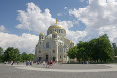 Naval cathedral in Kronshtadt Stock Photos
