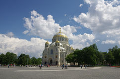 Naval cathedral in Kronshtadt Royalty Free Stock Image